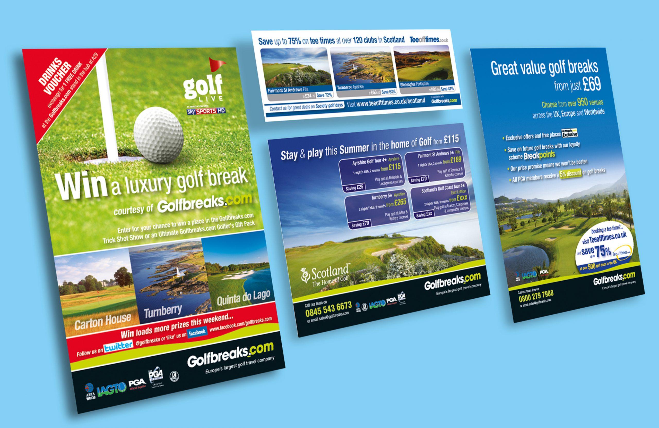 Luxury Golfbreaks Brochure Ads