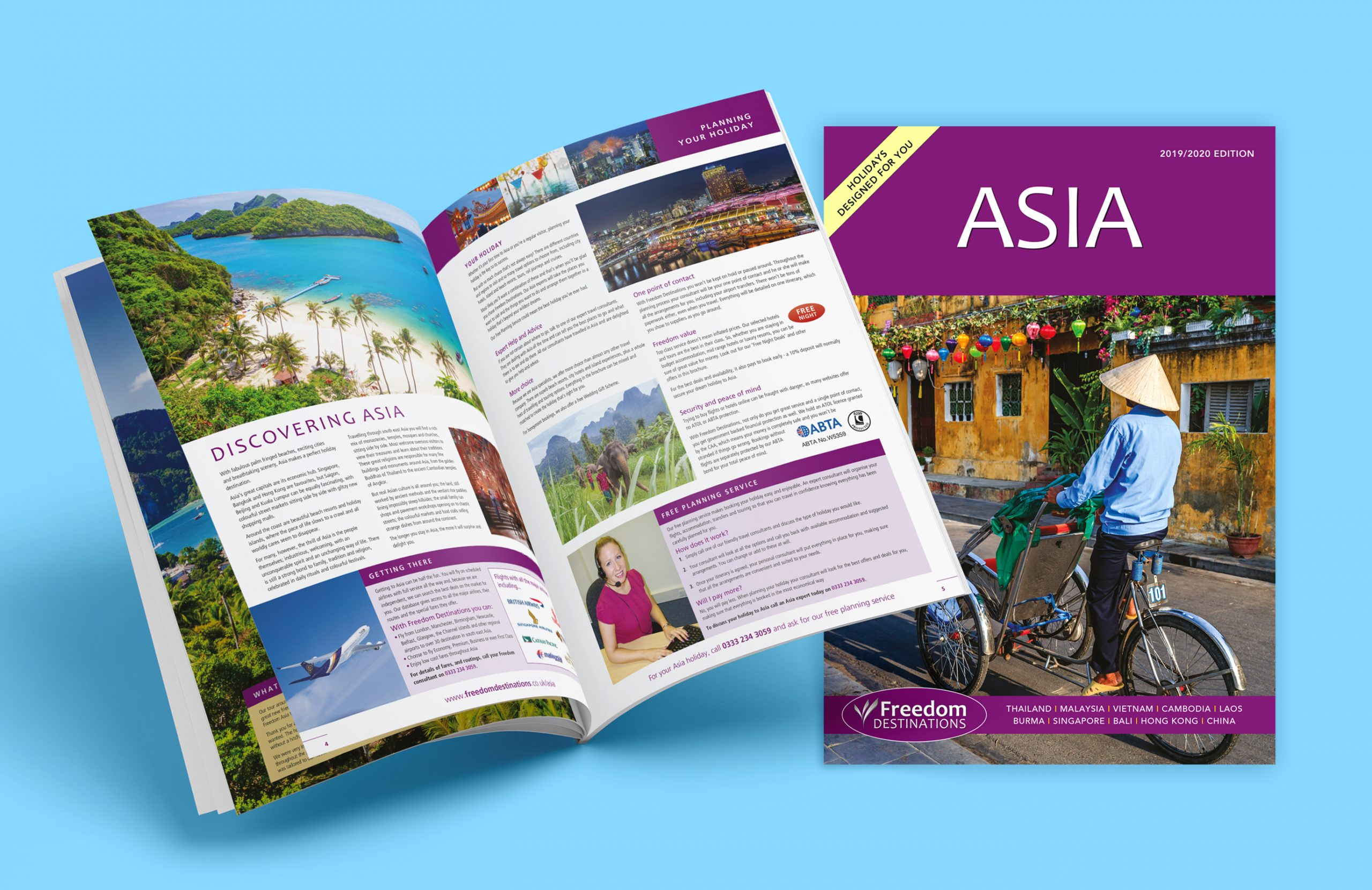 Freedom Asia Brochure Design