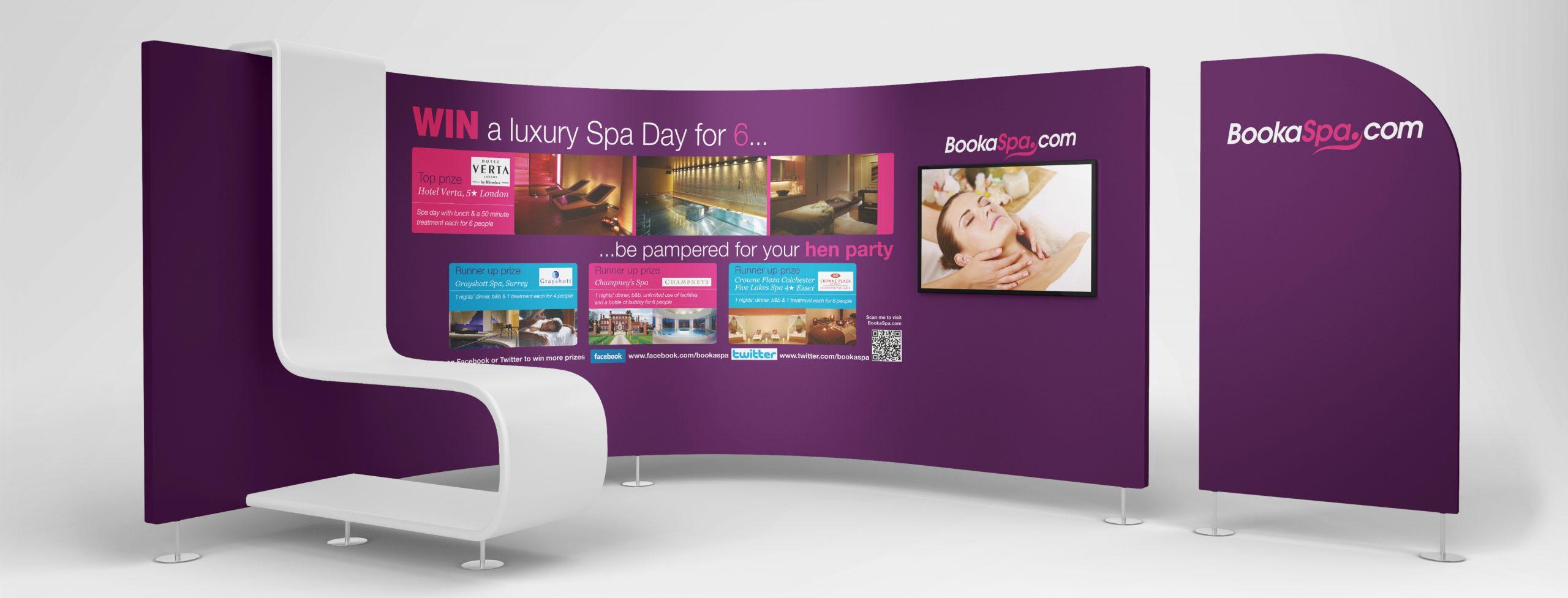BookSpa.com Stand Design Display Creative