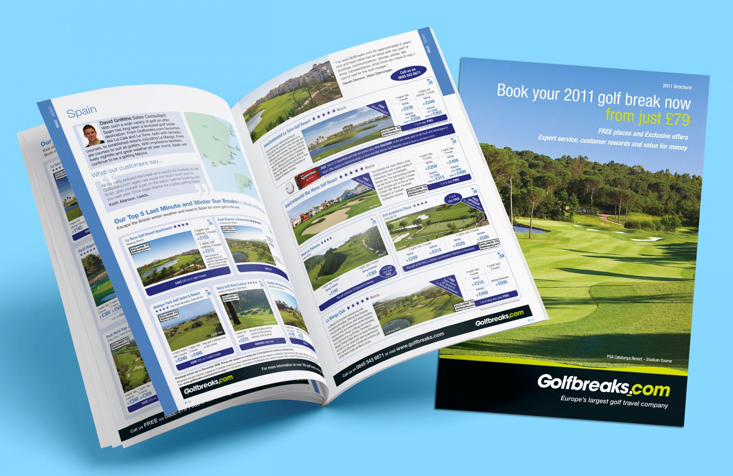 Golfbreaks portfolio design