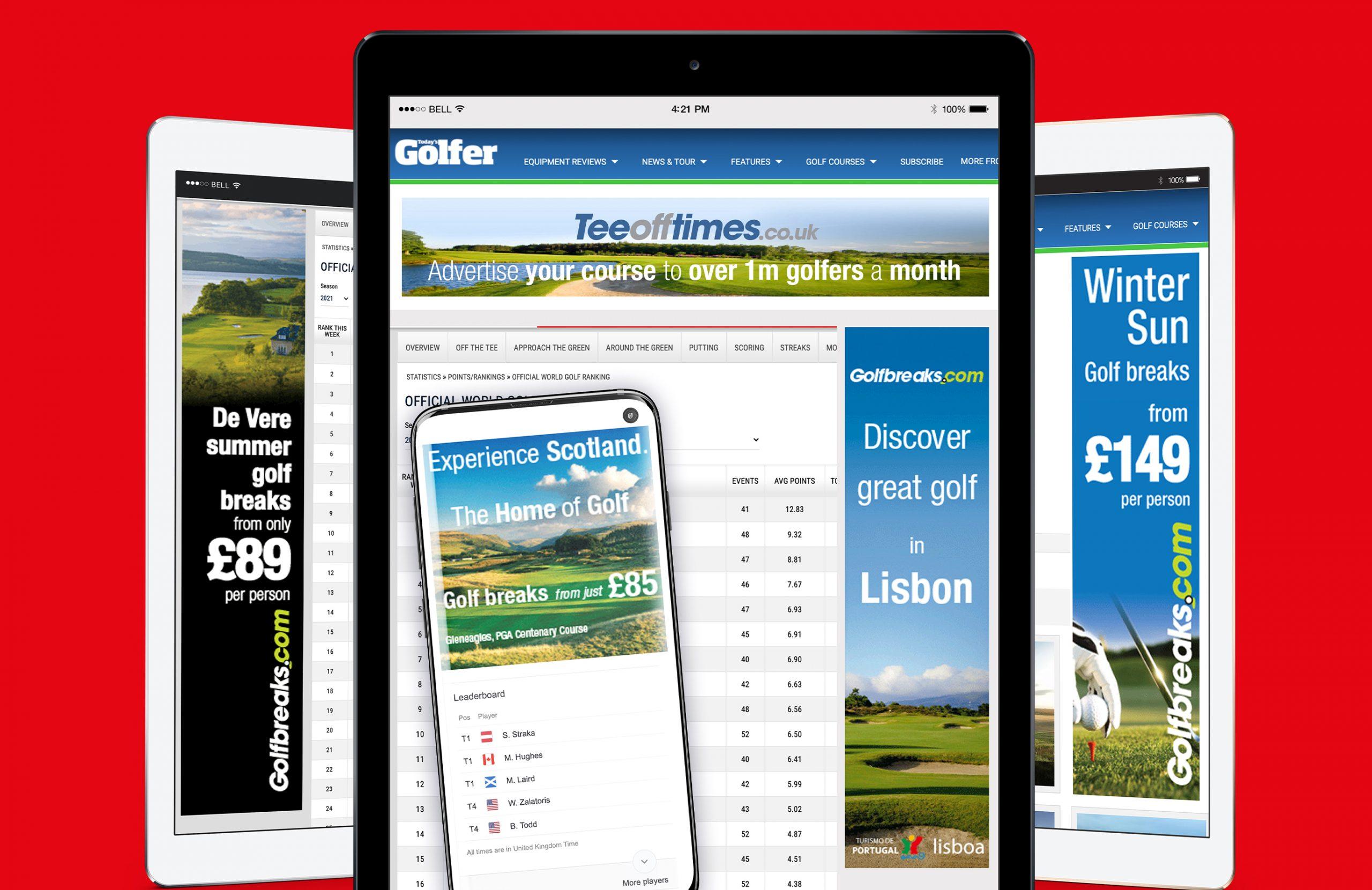 Teeofftime.co.uk mockup banners
