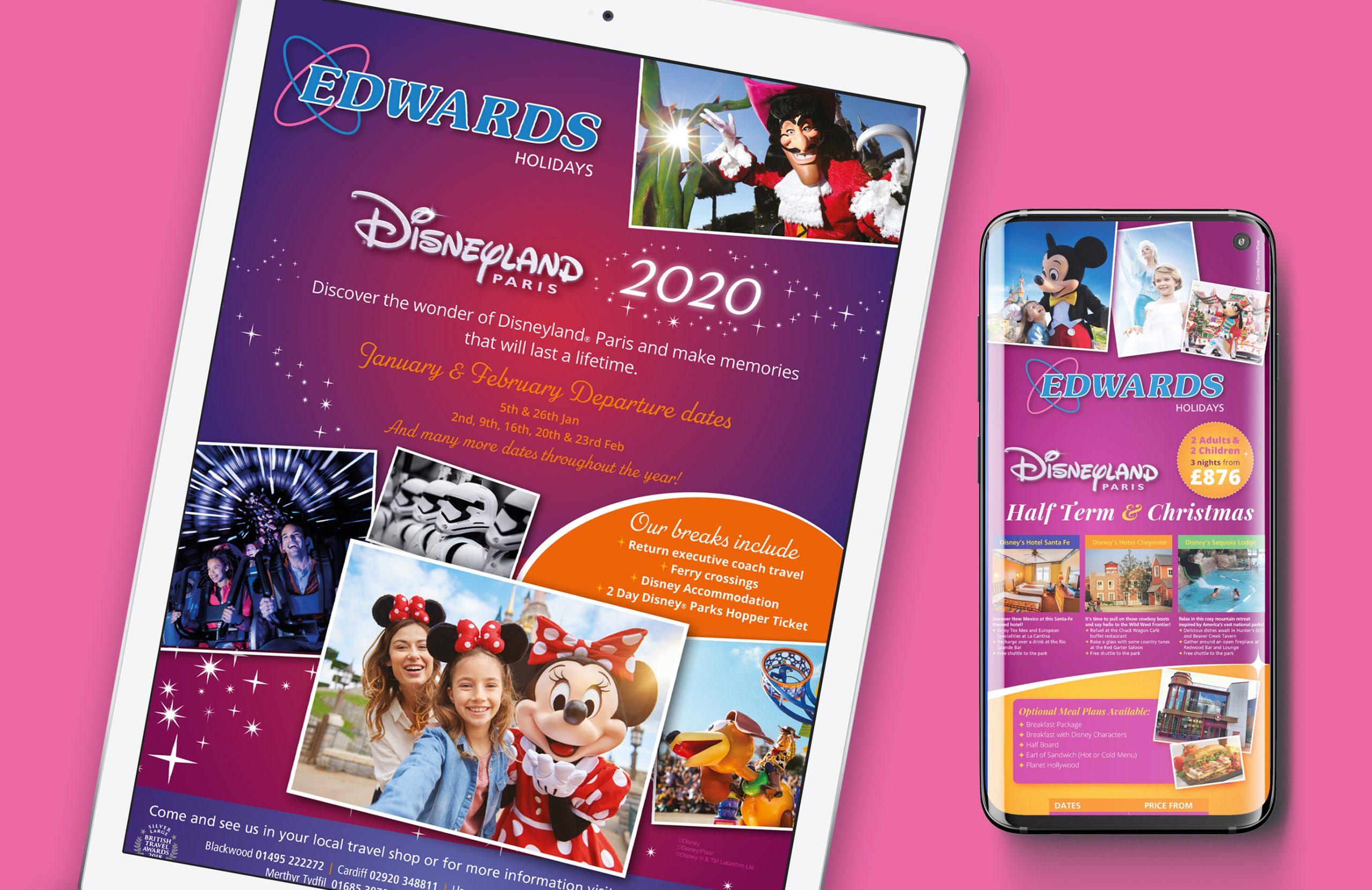 Disneyland Paris Ipad mockups