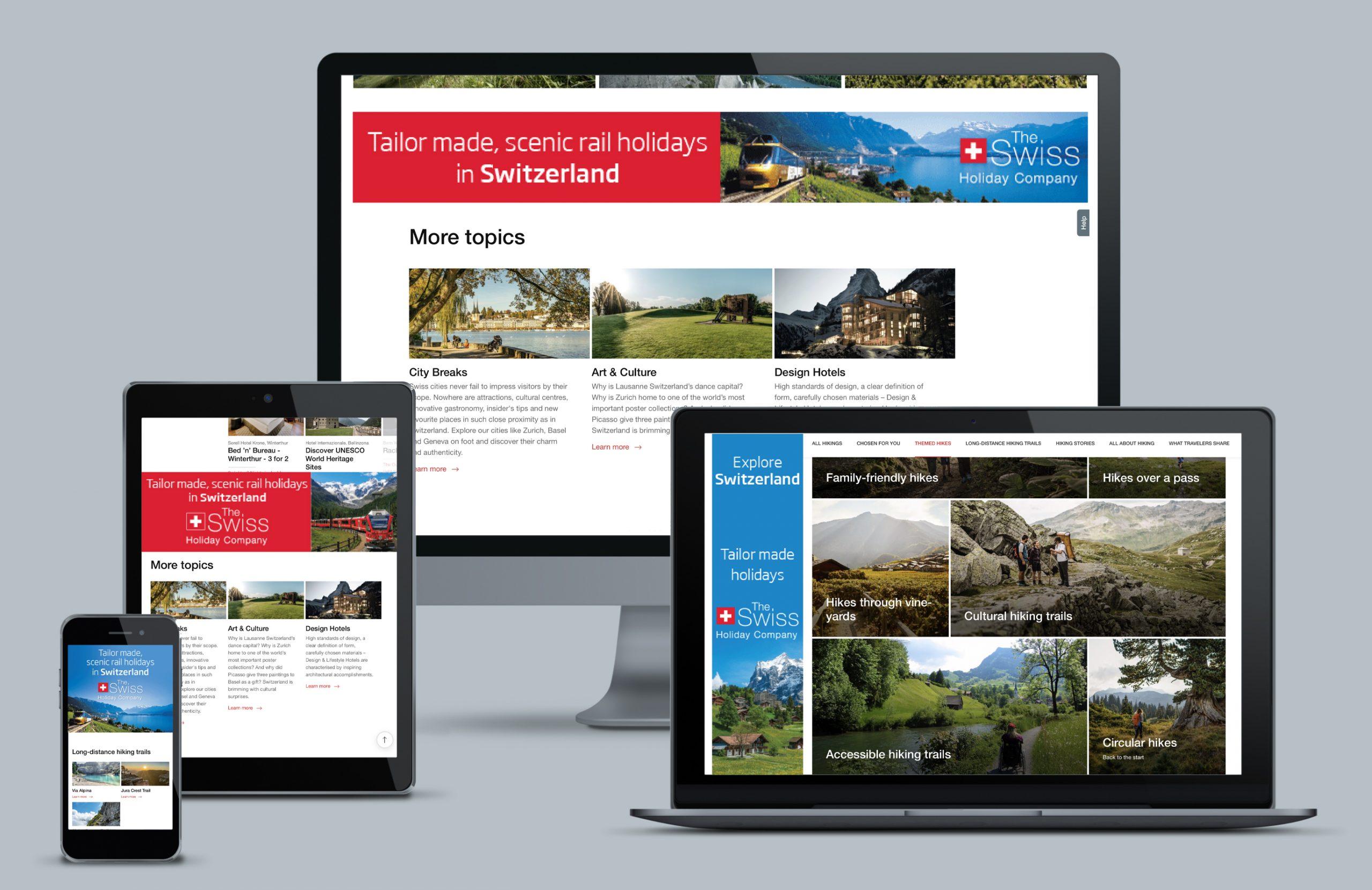 Swiss Holiday Company Web Design