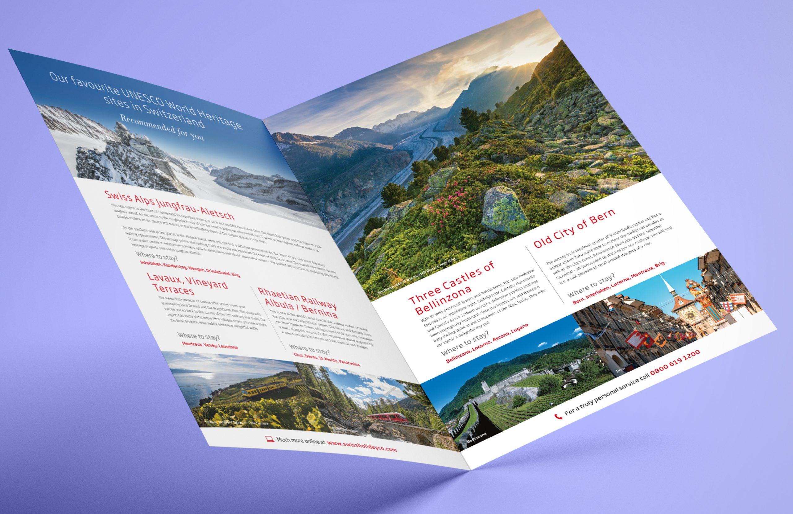 Swiss Holiday Company Flyers Design